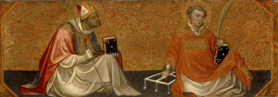 A Bishop Saint and Saint Lawrence