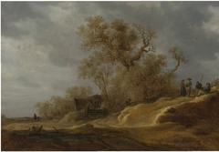 A Dune Landscape with Peasants by a Track