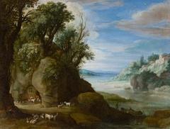 A Landscape with Troglodyte Goatherds