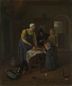 A Peasant Family at Meal-time