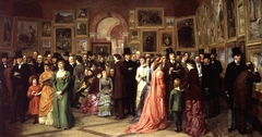 A Private View at the Royal Academy, 1881