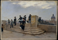 A Windy Day on the Pont des Arts