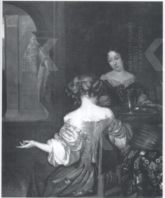 An Elegant Lady and her Maid in an Interior