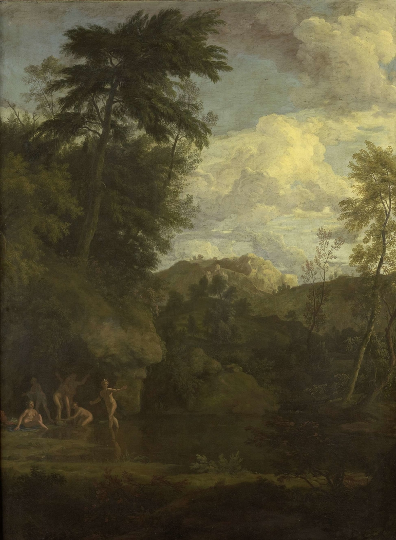 Arcadian Landscape with Diana Bathing