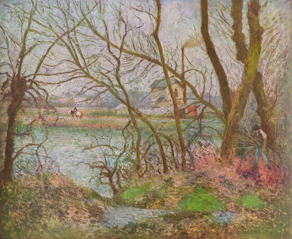 Banksof the Oise, near Pontoise, Winter