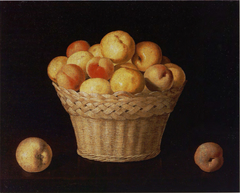 Basket of Apples and Peaches
