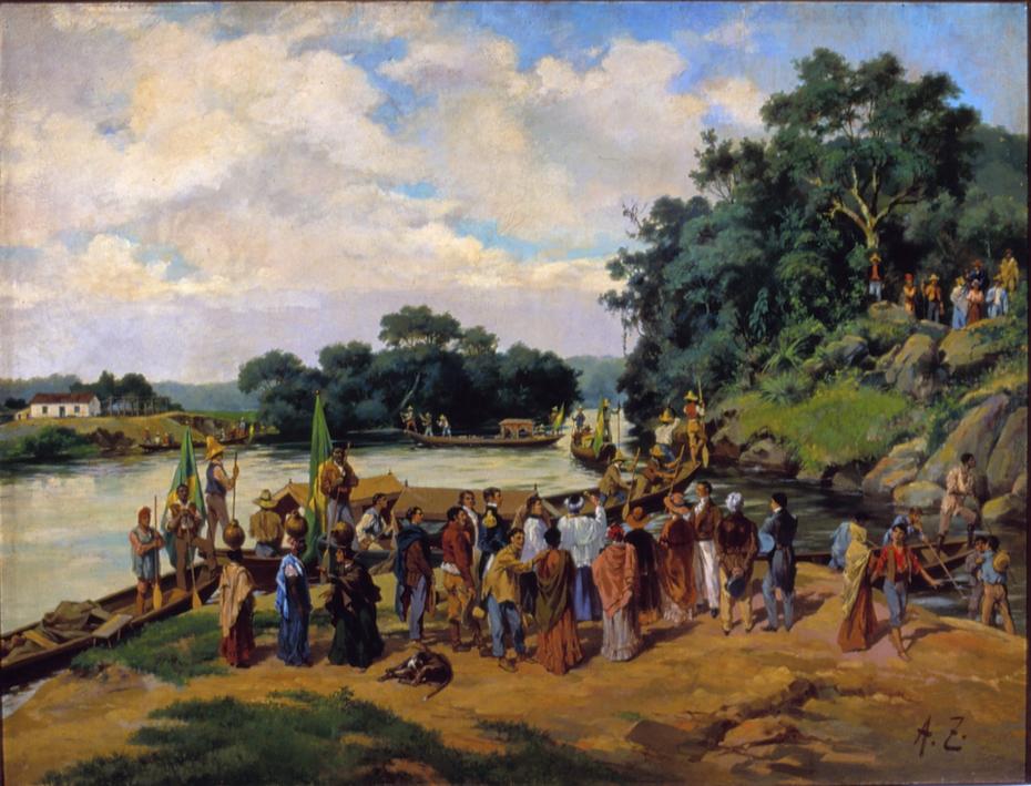 Bênção dos canoões (Porto Feliz)