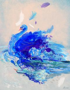 Blue swan