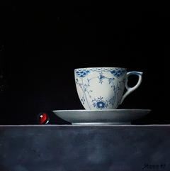 Bluepainted cup 30x30cm