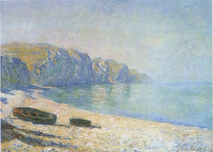 Boats on the Beach at Pourville, Low Tide
