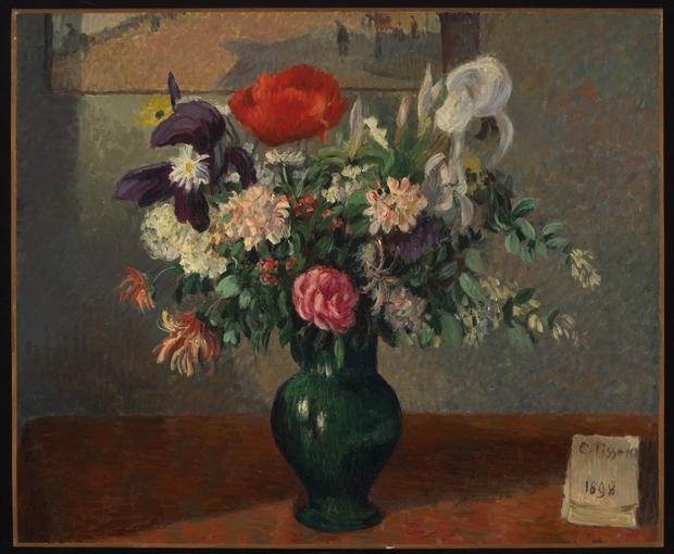 Bouquet of flowers bouquet de fleurs camille pissarro for Bouquet de fleurs wiki