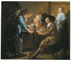 Card Players by Lamplight