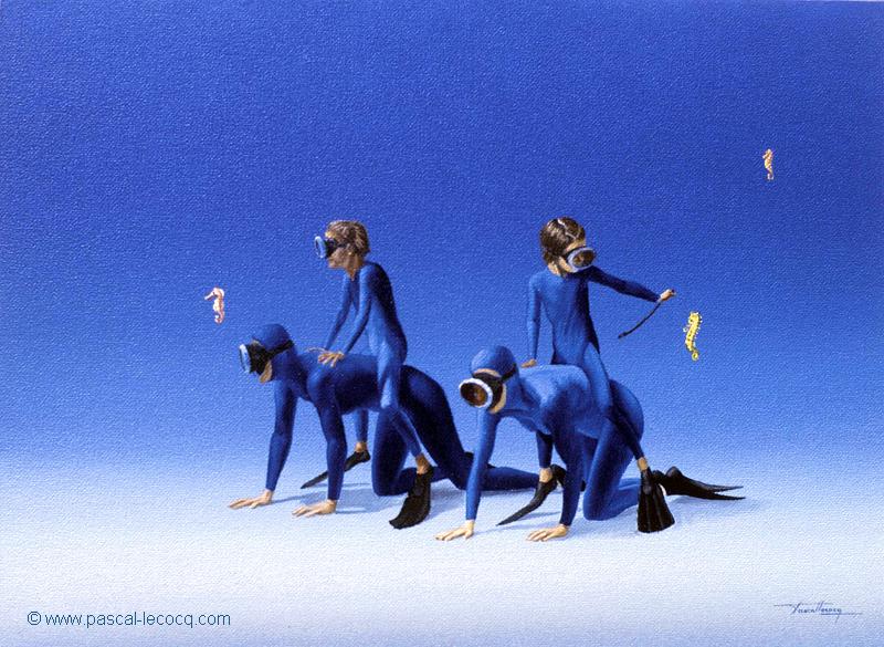 CASAQUES BLEUES - Blue jerseys - by Pascal