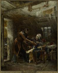 Claude Gueux rapportant à sa famille le pain volé
