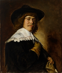 Copy of Frans Hals´ painting Man in a Slouch Hat