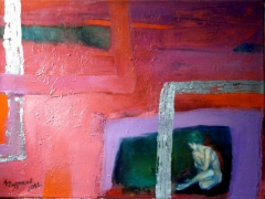 CRINGED, 2012, oil on canvas, by ANNA ZYGMUNT