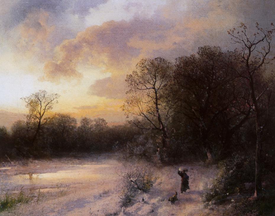 Daybreak on a Snowy Morning