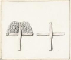 De lakenfabricage: een wolkam, met en zonder kaarde