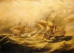 Destruction of the 'Droits de l'Homme', 13 January 1797