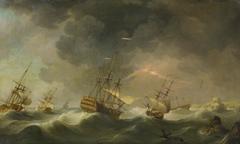 East Indiamen Driven Ashore in a Storm