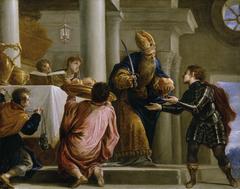 El sacerdote Ajimelec entrega el pan y la espada a David