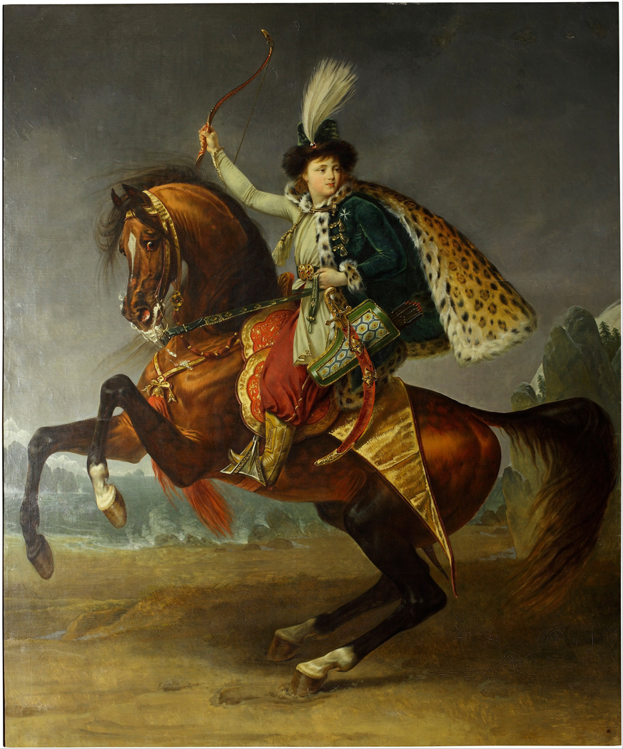 Equestrian portrait of prince Boris Yusupov