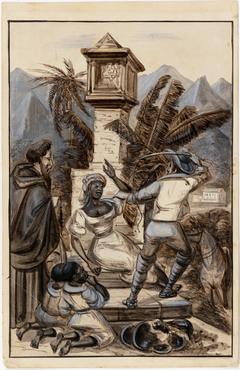 Escrava recebendo punição