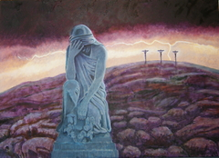 'Execution by Torture' (2008), oil on linen, 140 x 100 cm.