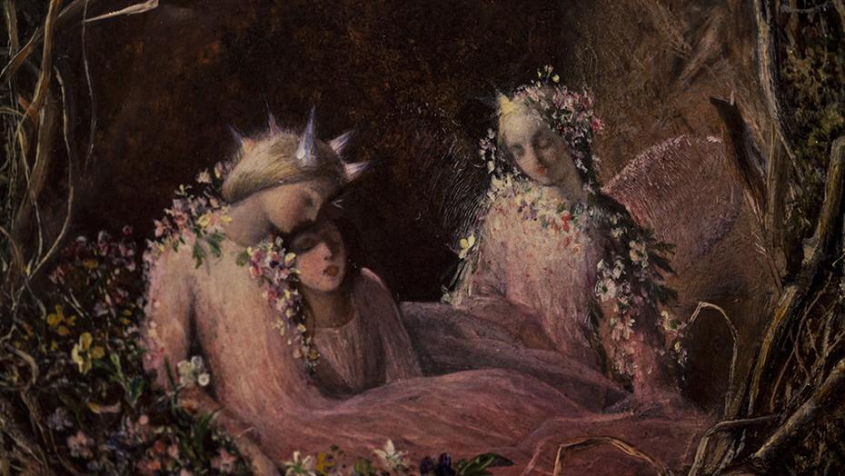 Fairies in a Bird's Nest
