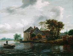Farm and Hayrick on a River