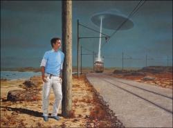 Flying Saucer Attacks Tram