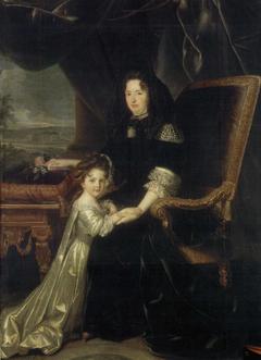 Françoise Charlotte d'Aubigné with her aunt Madame de Maintenon.