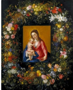 Garland with the Virgin and Child