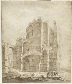 Gedeelte van het Colosseum met een ezeldrijver