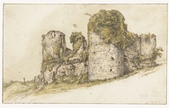 Gezicht op het Château de César te Vau