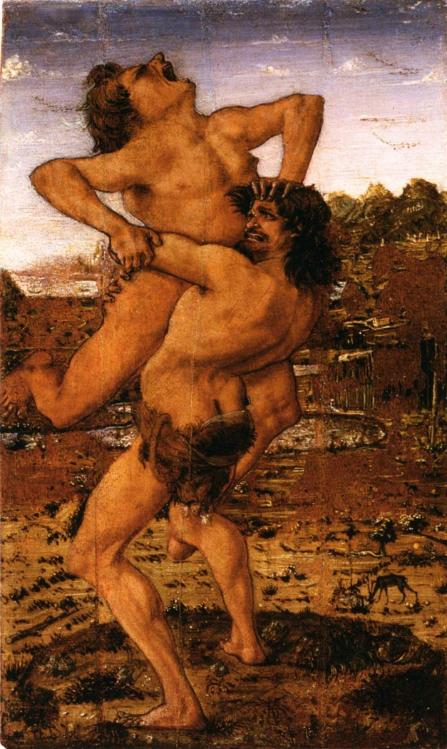 Hercules slaying Antaeus