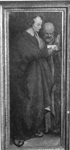 Hll. Johannes und Petrus (Verkleinerte Kopie nach den Vier Aposteln) (Kopie nach)