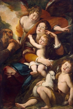 Holy Family with St John the Baptist and Angel