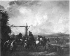 Horsemen Halting at an Inn