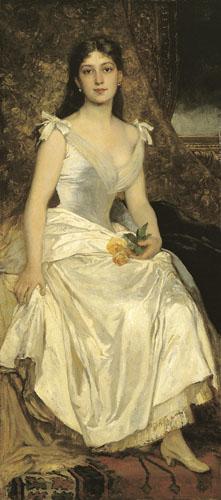 Ilona Lotz in White