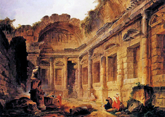 Interior of the Temple of Diana in Nîmes
