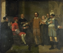Jacob Simonsz de Rijk getting the Spanish Governor-General Requesens to Release Marnix van Sint Aldegonde, 1575