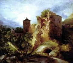 La Tour en ruine du château de Heidelberg