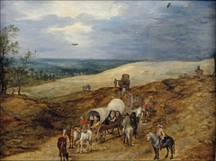 Landscape with Wagons
