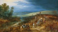 Landschaft mit dem Rohrdommeljäger