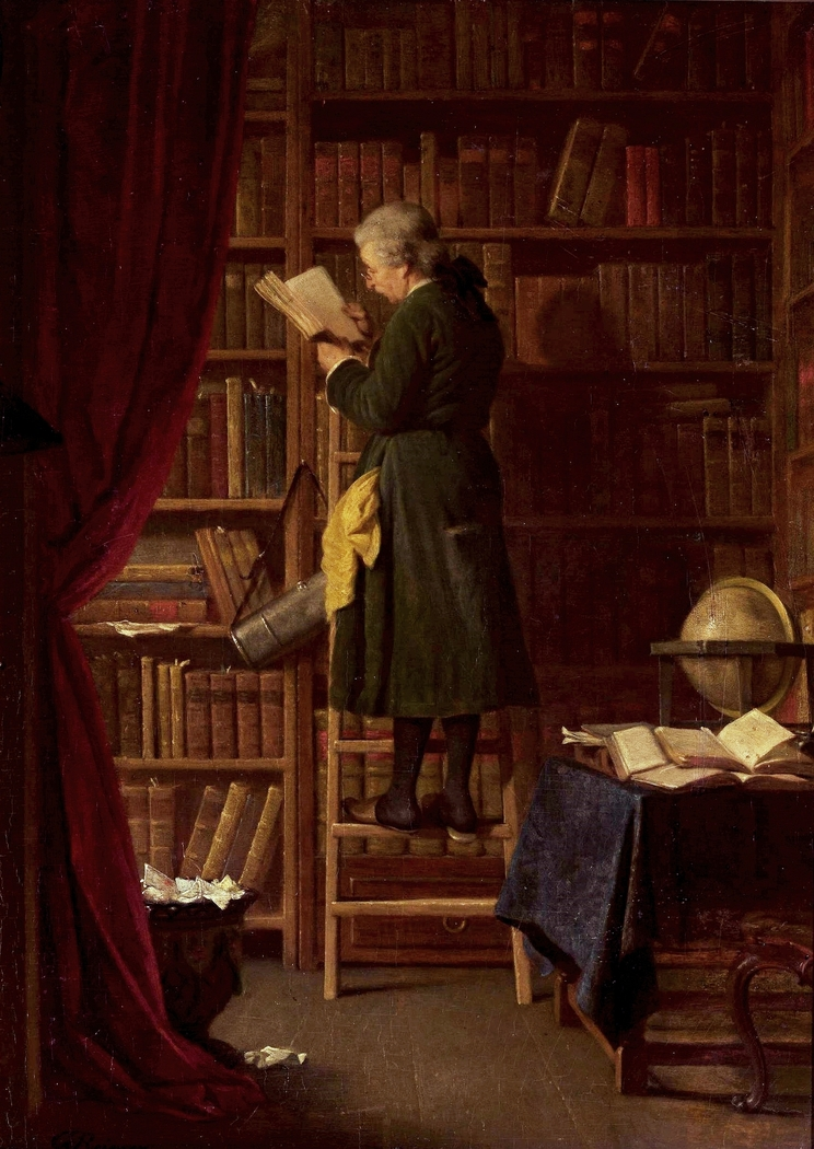 Librarian (In a library).