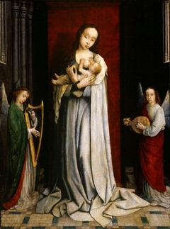 Madonna and Child with Two Music Making Angels