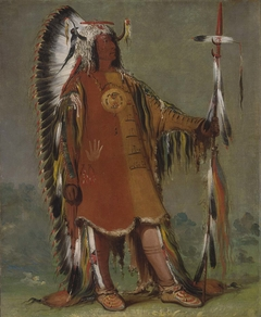 Máh-to-tóh-pa, Four Bears, Second Chief, in Full Dress