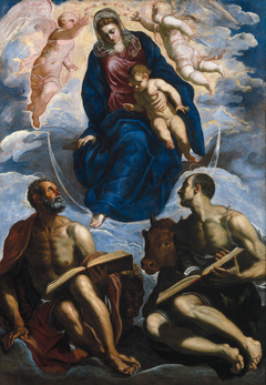 Mary with the Child, Venerated by St. Marc and St. Luke