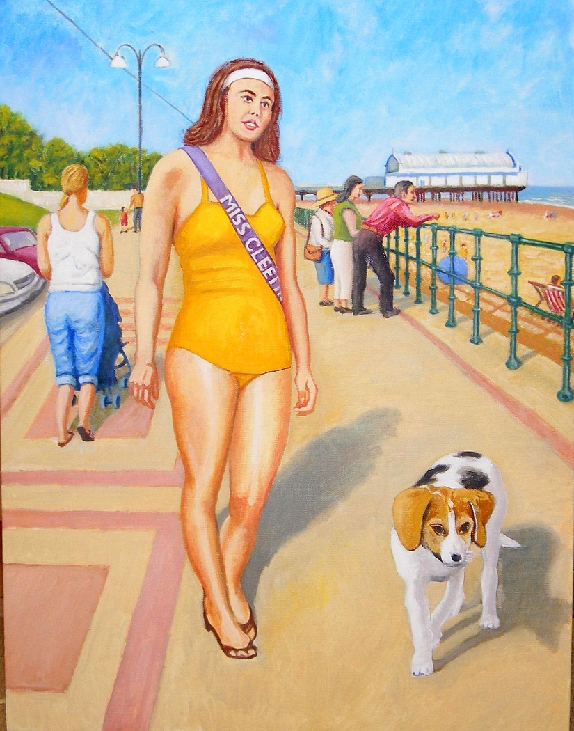 'Miss Cleethorpes', (2012) Oil on Linen, 66.2 x 102 cm